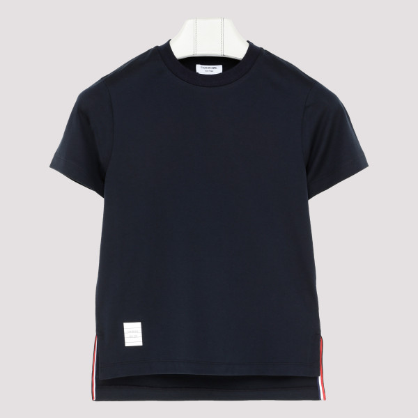 Blue slide slits T-shirt