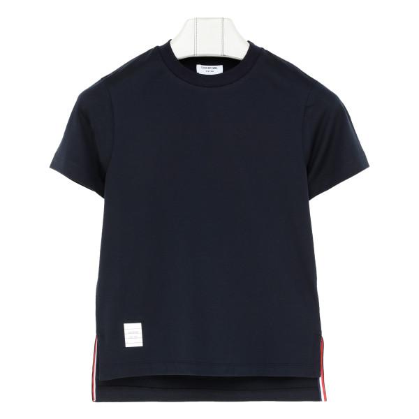 Blue slide slits T-shirt