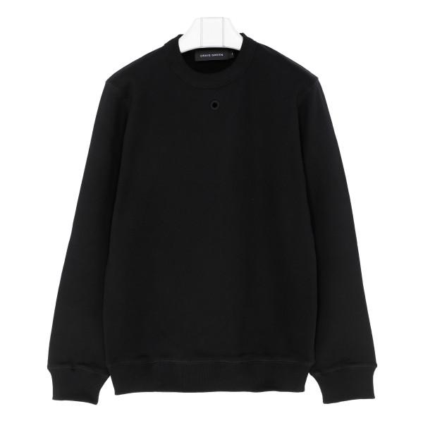 Black cotton Hole sweatshirt