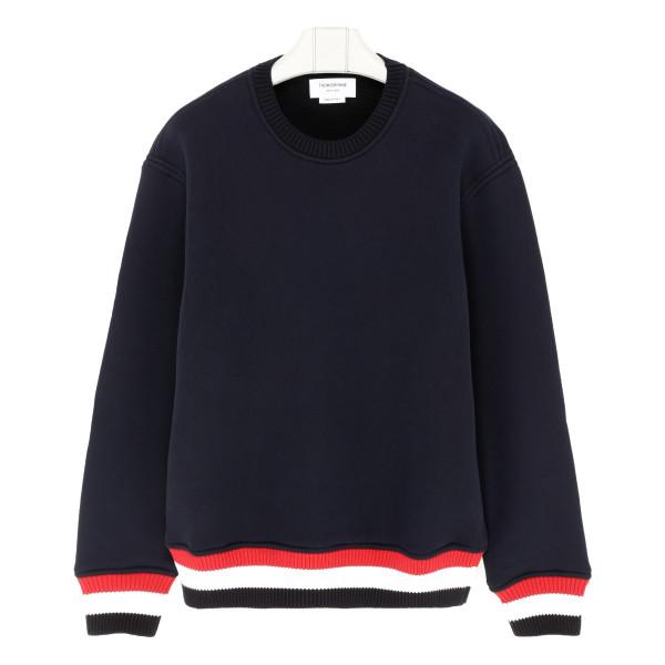 Blue cotton sweateshirt
