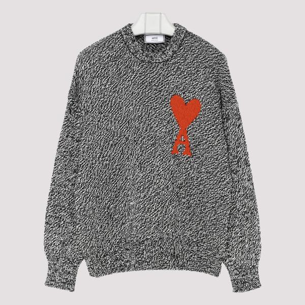 Gray cotton blend sweater...