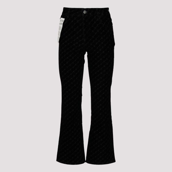 Logoed black denim jeans
