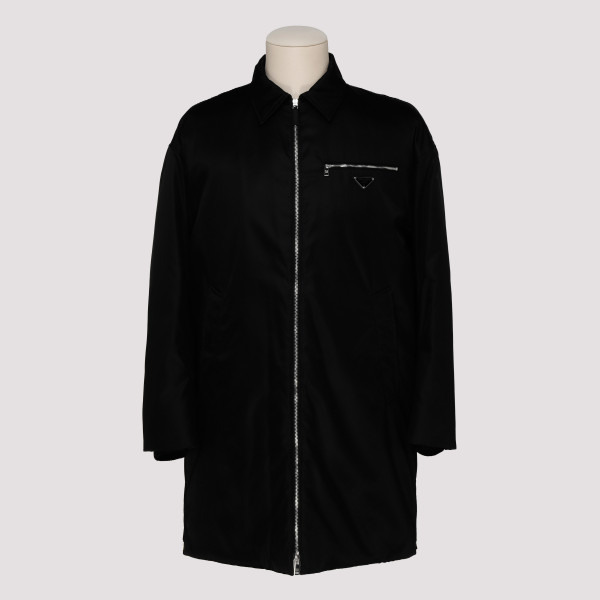 Black gabardine nylon coat
