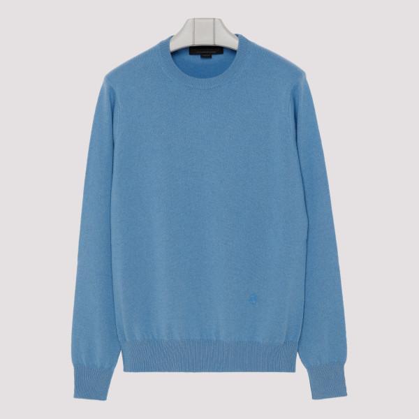 Blue cashmere blend sweater
