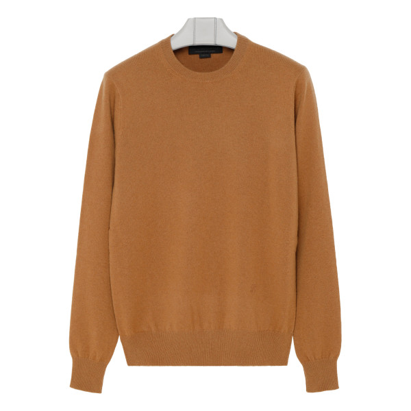 Camel cashmere and wool blend sweater