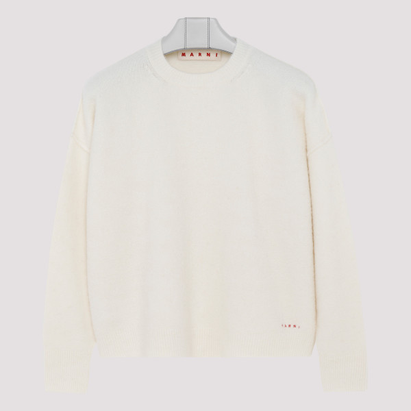 White wool-blend sweater