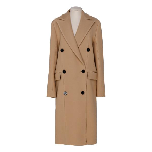 Camel virgin wool blend coat
