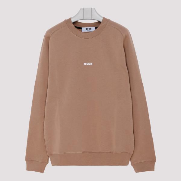 Beige logo sweatshirt