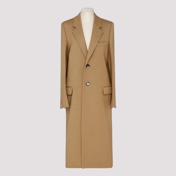Beige single-breasted coat
