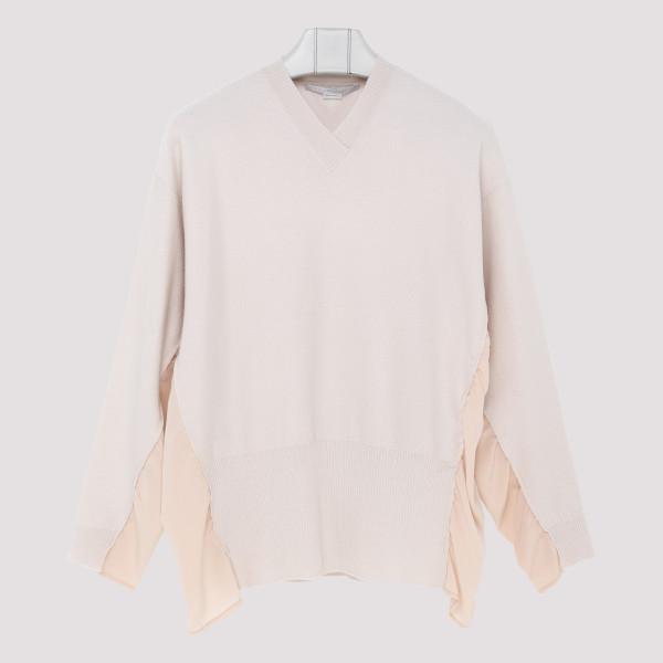 Light pink V-neck sweater