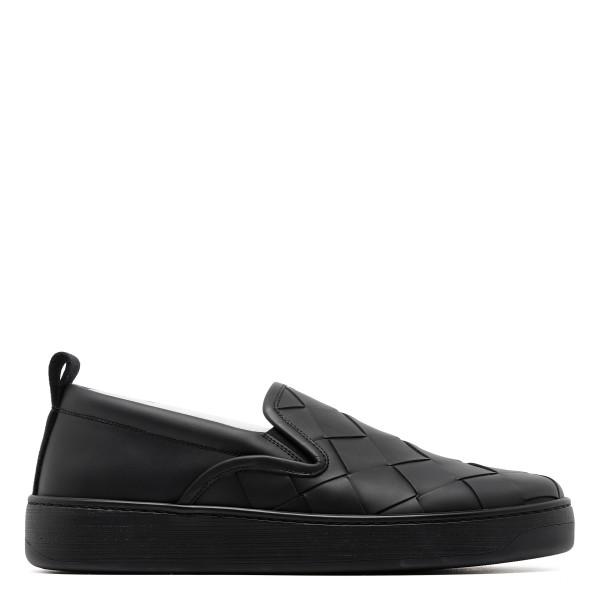 Black sneakers with maxi intreccio