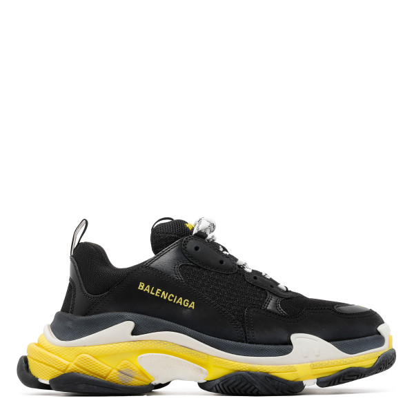 Triple S black and yellow sneakers