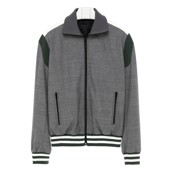 Gray college jacket