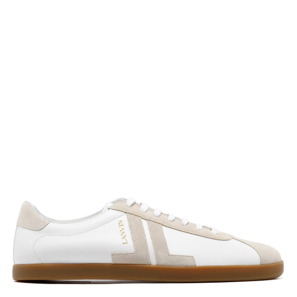 JL white and cream sneakers