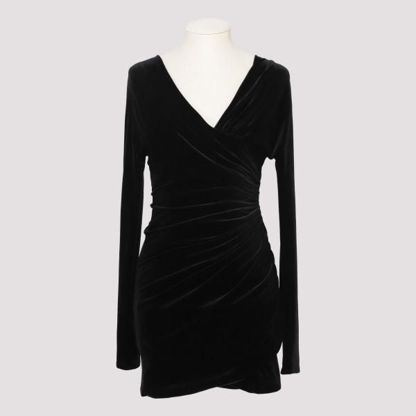 Black Off-Shoulder Velvet...