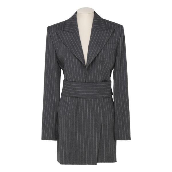 Notch-lapel tuxedo mini dress