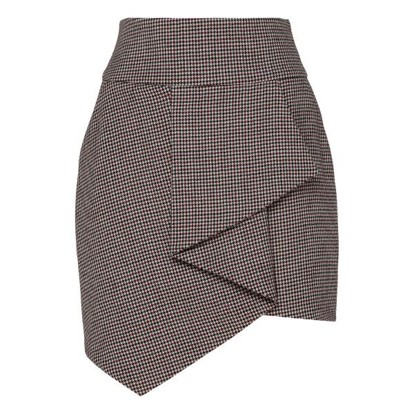 Checked Wool Mini Skirt