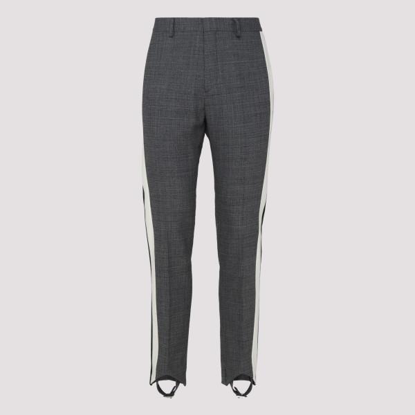 Gray wool stirrup pants