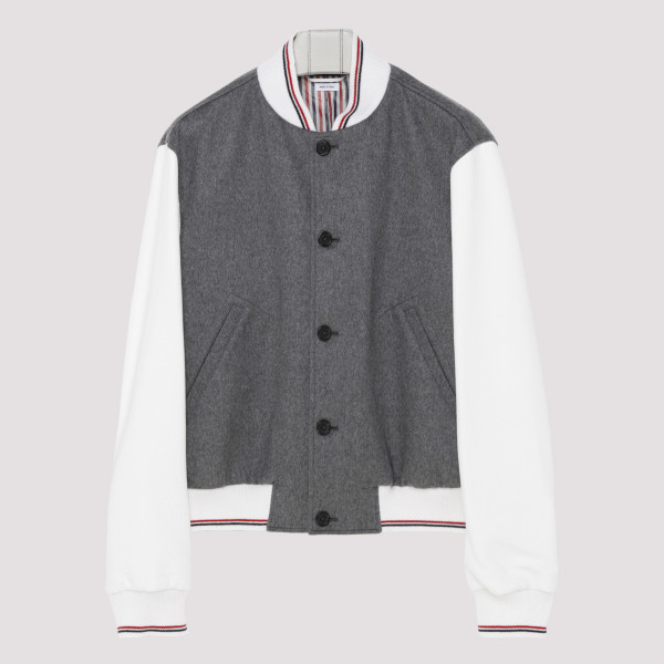 Embroidered Cashmere Blouson Jacket