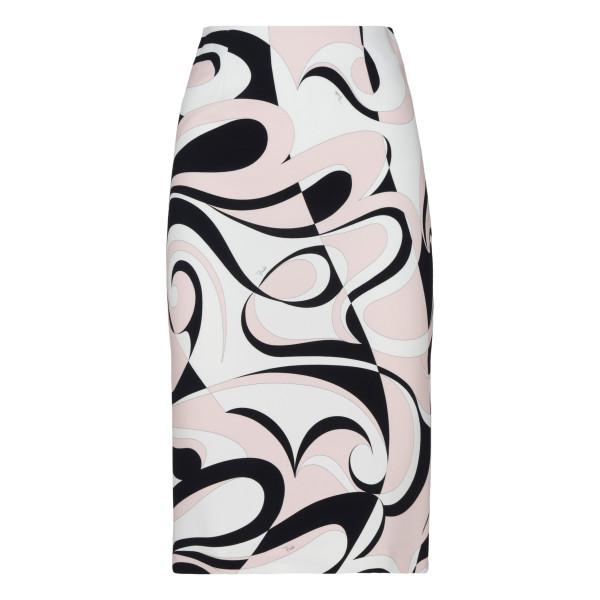 Fortuna print pencil skirt