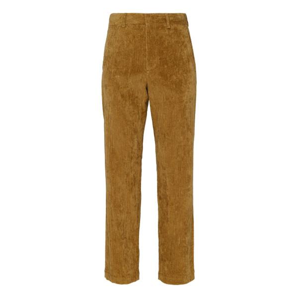 Beige classic corduroy chino pants