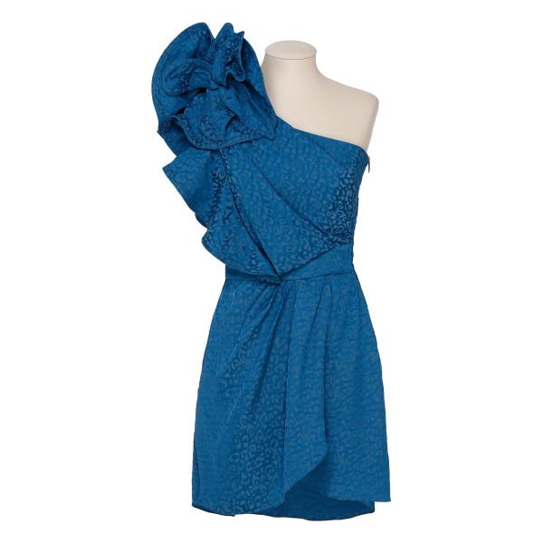 Opponent Interpretation one-shoulder dress