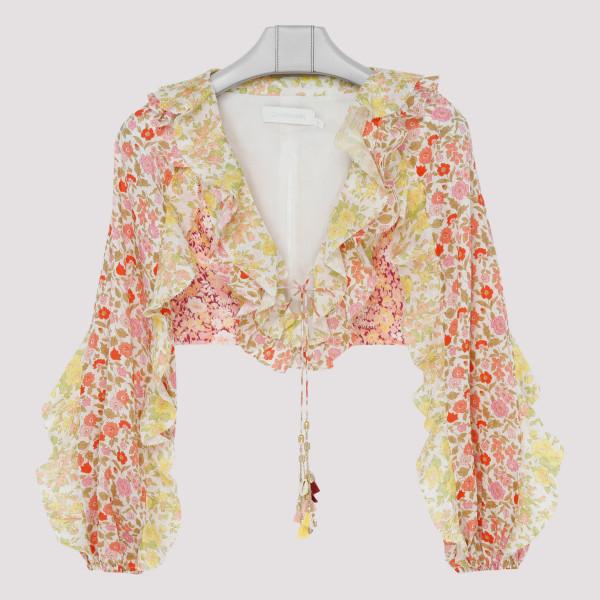 Goldie floral crop-top