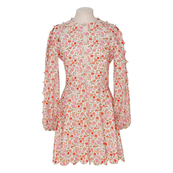 Goldie scallop mini dress