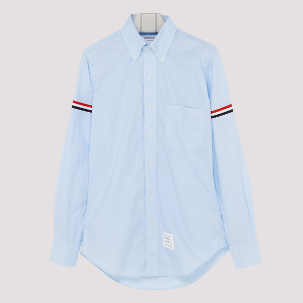 Blue striped sleeve shirt