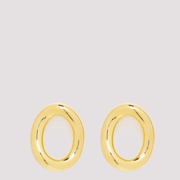 Golden-tone Oval earrings