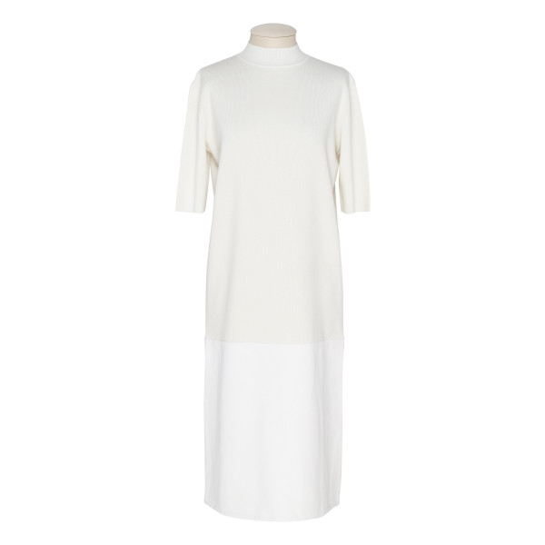 White cashmere knitted dress