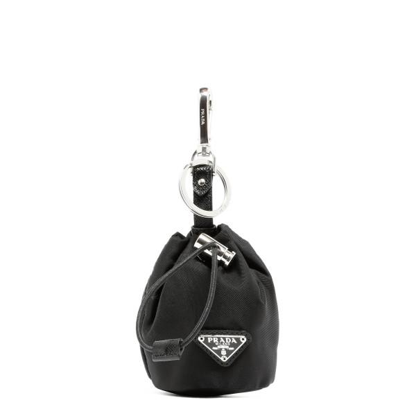 Black micro bucket keychain