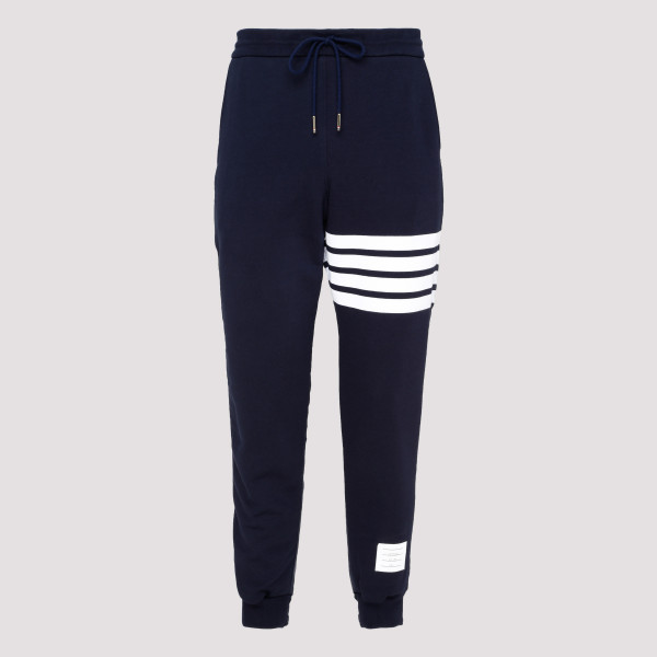Blue Logo Patch 4 Stripe Sweatpants
