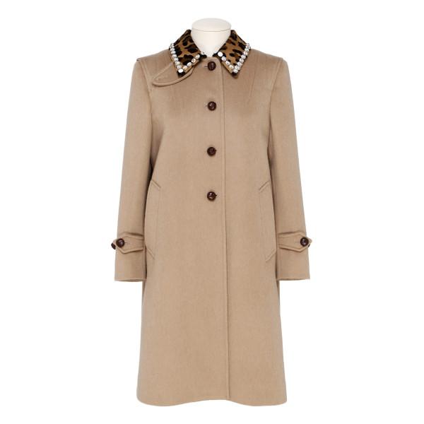 Beige wool-blend coat