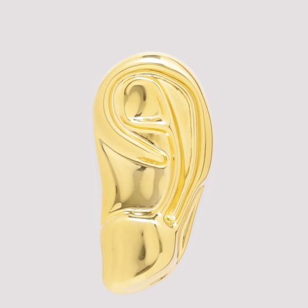 Golden metal left ear...