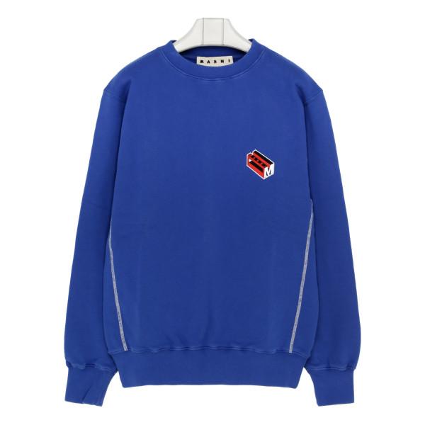 Blue sweatshirt with logo