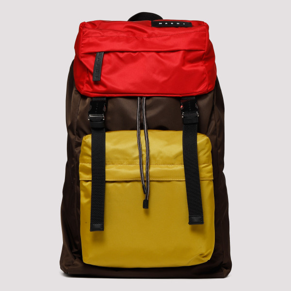 Multicolor nylon backpack
