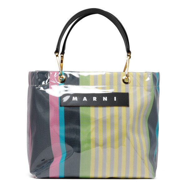 Glossy Grip striped bag