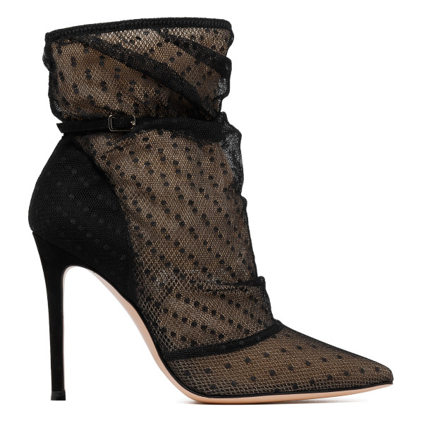 Emanuelle polka dots tulle booties