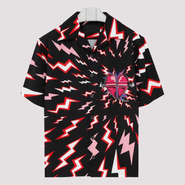Lightning bolt black shirt