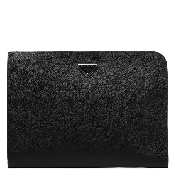 Black saffiano leather briefcase