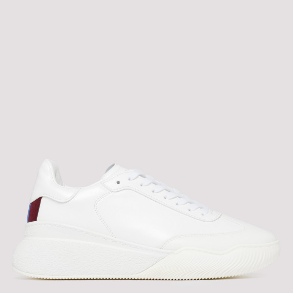 White alter leather sneakers