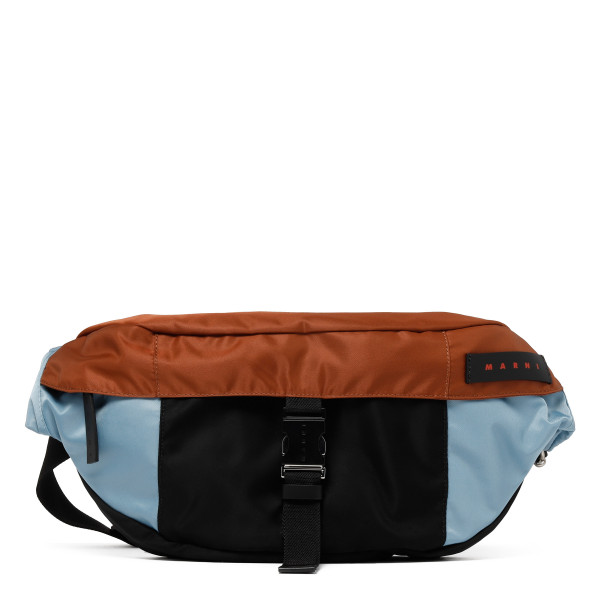 Color-block nylon belt bag