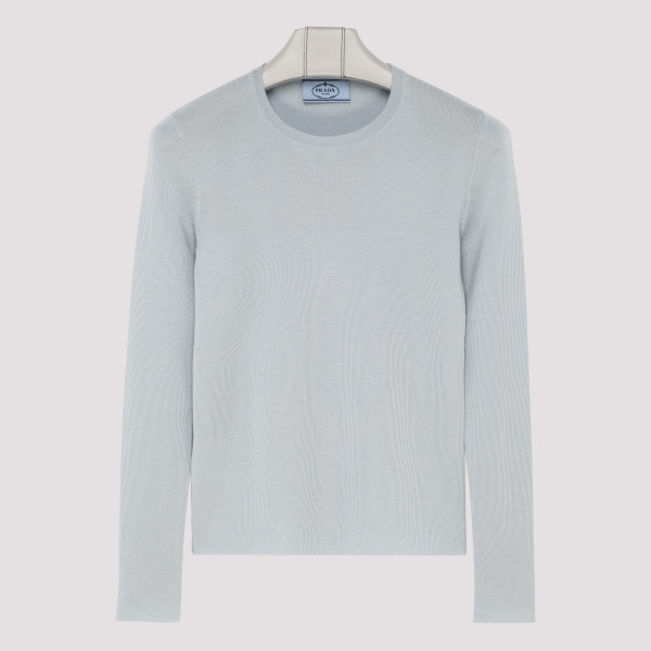 Light blue wool sweater