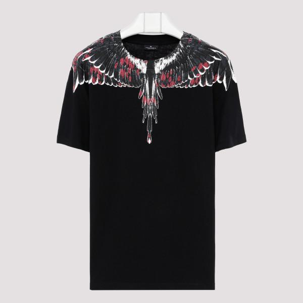 Black Flower wings T-shirt