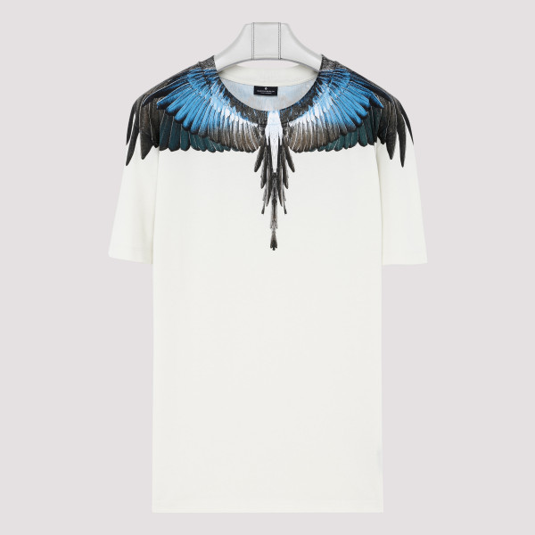White turquoise wings T-shirt
