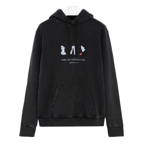 Black More and more sweatshirt