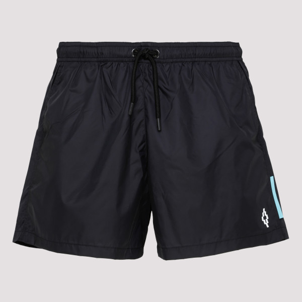 Side print swim shorts