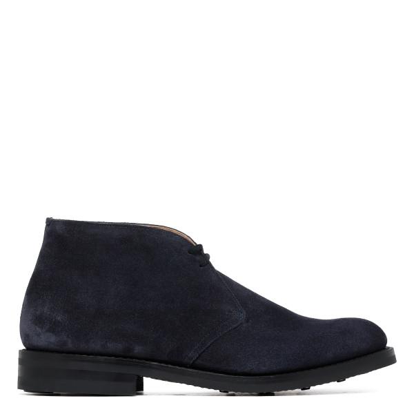 Blue suede Ryder desert boots