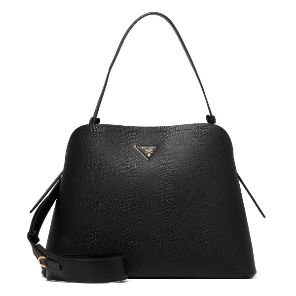 Black leather Matinee bag
